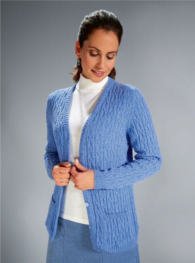 9153 - Waterfall Blue - Luxury Lambswool Cardigan