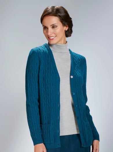 9153 - Dark Teal - Luxury Lambswool Cardigan