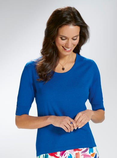 9170 - Cobalt Blue - Silky Soft Jumper