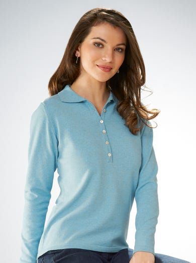 9181 - Sky Blue - Fine Cotton and Cashmere Jumper
