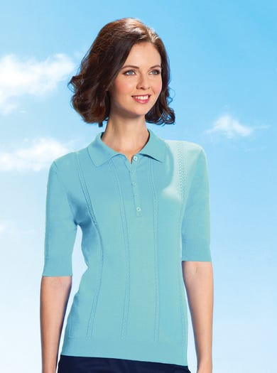9190 - Aqua - Supersoft Cotton Polo