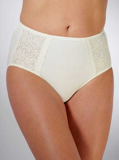 9201 - Ivory - High Waist Briefs by Anita