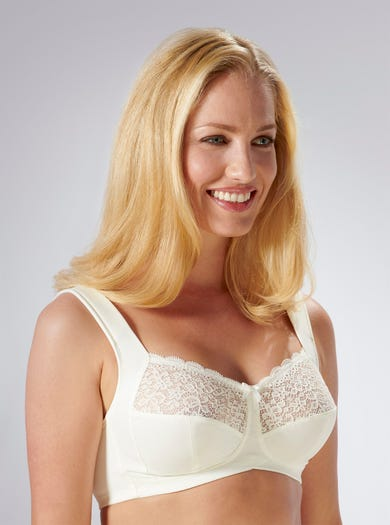 9205 - Ivory - Soft Strap Support Bra by Anita