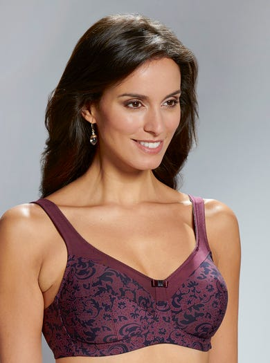 9213 - Wine - Supportive Comfort Bra by Anita