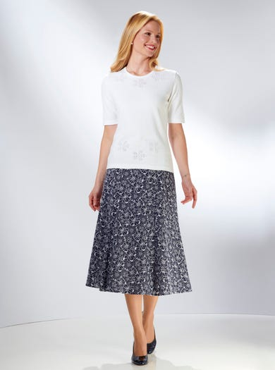9225 - White - Lacy Pure Cotton Knit