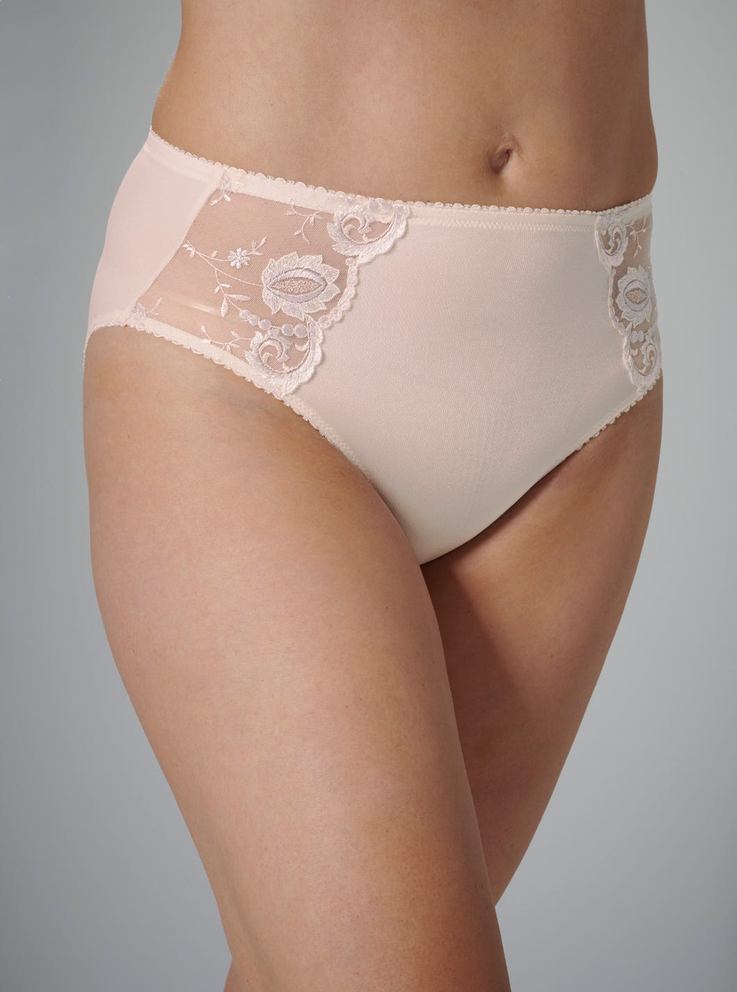 Embroidered Full Briefs by Felina