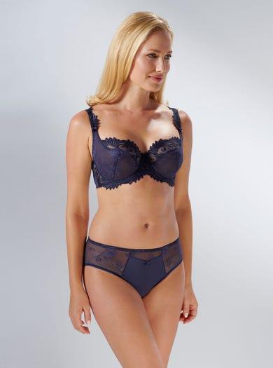 9271 - Marineblau - Thalia Weicher luxuriöser Taillenslip