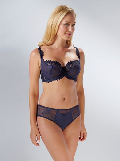 9272 - Navy - Luxury Lace Bra by Empreinte