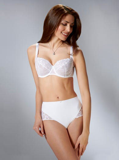 9280 - White - Richly Embroidered Bra by Aubade