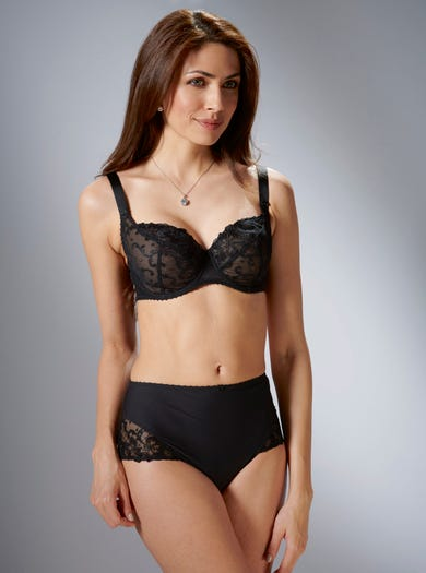 9280 - Black - Richly Embroidered Bra by Aubade
