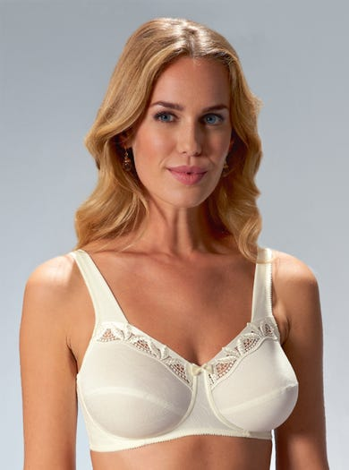 9284 - Ivory - Supportive, Wire-Free Bra By Felina