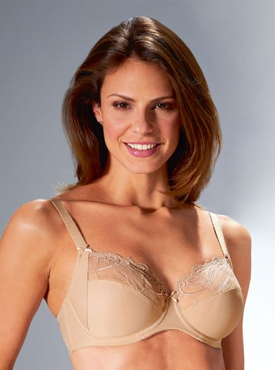 9286 - Sand - Embroidered Underwired Bra by Felina