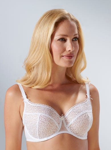 9293 - White - Richly Embroidered Underwired Bra by Empreinte