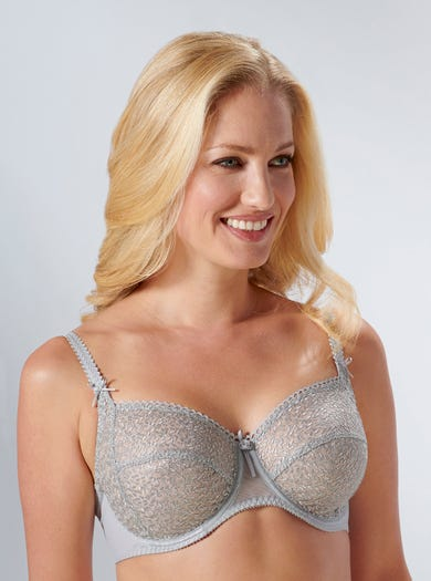 9293 - Silver - Richly Embroidered Underwired Bra by Empreinte