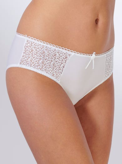 9294 - White - Embroidered Lace Brief by Empreinte