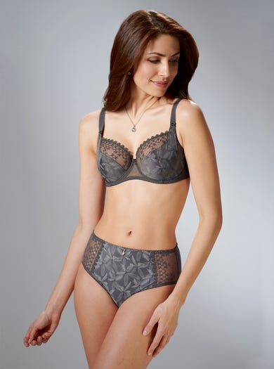 9322 - Graphite - Fine Embroidery Bra by Empreinte