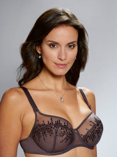 9368 - Truffle - Soft Embroidered Bra by Empreinte