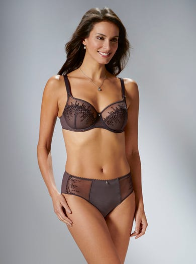 9369 - Truffle - Embroidered Full Briefs by Empreinte