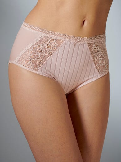 9374 - Blush - Pretty Lace Briefs by Felina