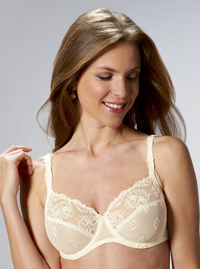 9378 - Ivory - Luxury Embroidered Bra by Chantelle