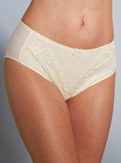 9379 - Ivory - Soft Embroidered Briefs by Chantelle