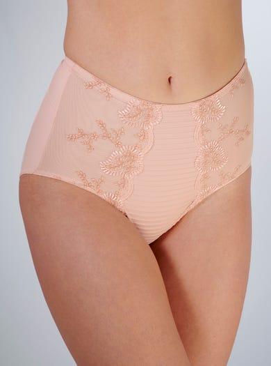 9386 - Naturel roze - Vormende tailleslip met kant