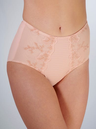 9386 - Nude Rose - Embroidered Shaping Brief by Louisa Bracq