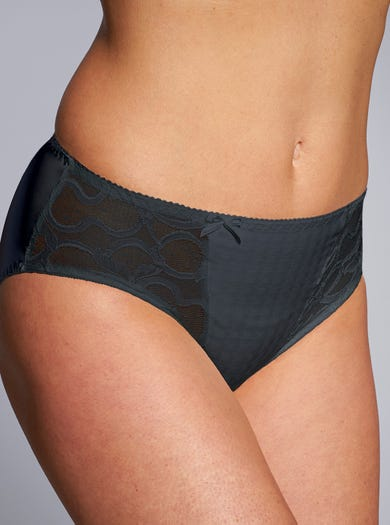 9393 - Charcoal - Contemporary Deep Briefs by Prima Donna