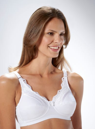 9433 - White - Cotton-lined Comfy Bra by Royce
