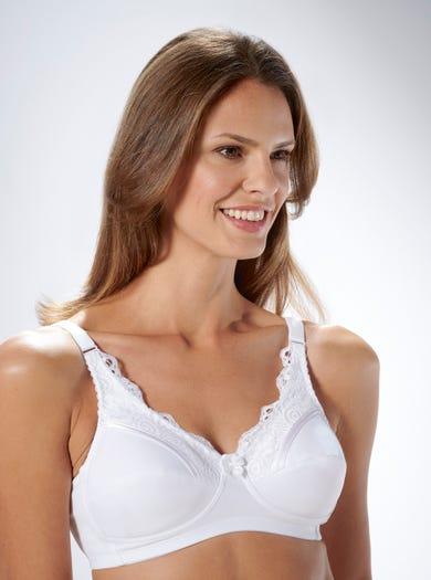 9433 - Blanc - Soutien-gorge riche en coton post-opératoire Jasmine de Royce