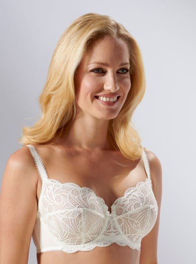 9438 - Ivory - Soft Stretch Lace Bra by Sans Complexe
