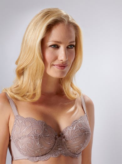 9438 - Smokey Quartz - Soft Stretch Lace Bra by Sans Complexe