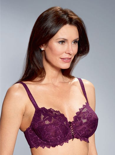 9448 - Blackcurrant - Supersoft Stretch Lace Arum Bra by Sans Complexe