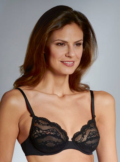 9453 - Black - Luxury Lightweight Lace Bra by Maison Lejaby