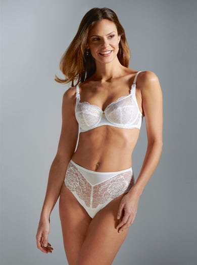 9460 - White - Comfortable Underwired Bra by Florale by Triumph