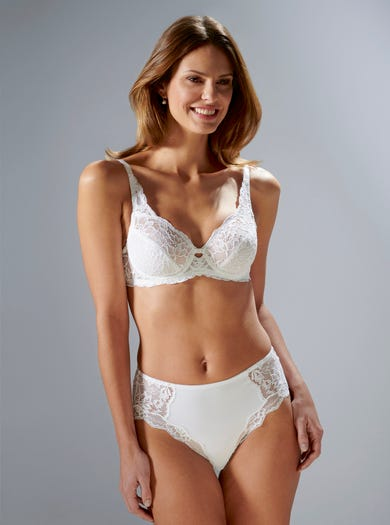 9470 - White - Soft Stretch Lace Bra by Triumph