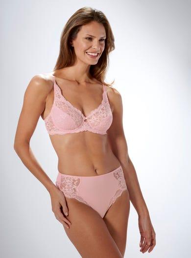 9470 - Pink - Soft Stretch Lace Bra by Triumph