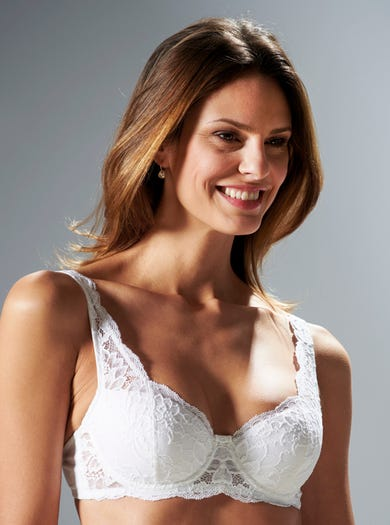 Lightly Padded Lace Balconet Bra by Triumph