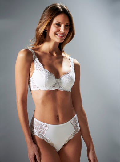 9471 - White - Lightly Padded Lace Balconette Bra by Triumph