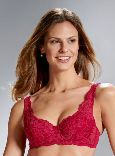 9471 - Ruby - Lightly Padded Lace Balconette Bra by Triumph