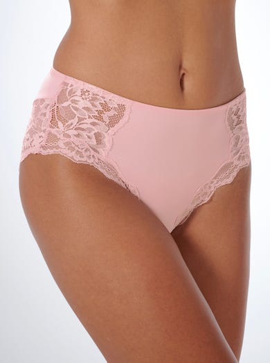 9472 - Pink - Lace-trimmed Briefs by Triumph