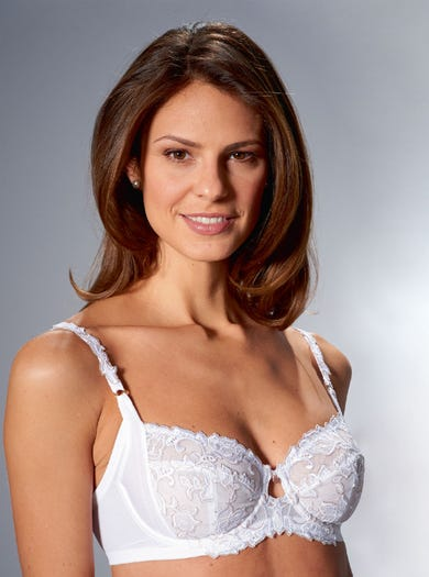 9508 - White - Comfortable Underwired Bra by Florale by Triumph