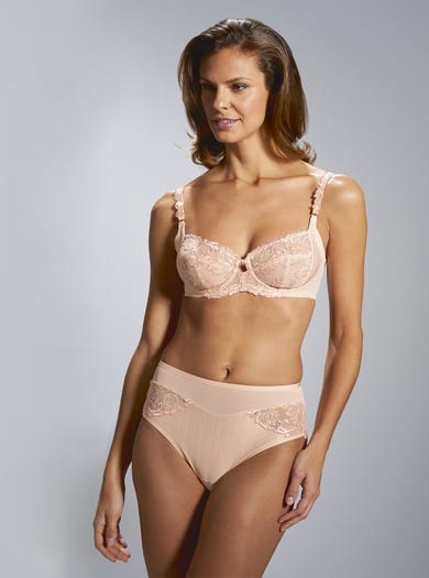 9508 - Soft Peach - Comfortable Underwired Bra by Florale by Triumph