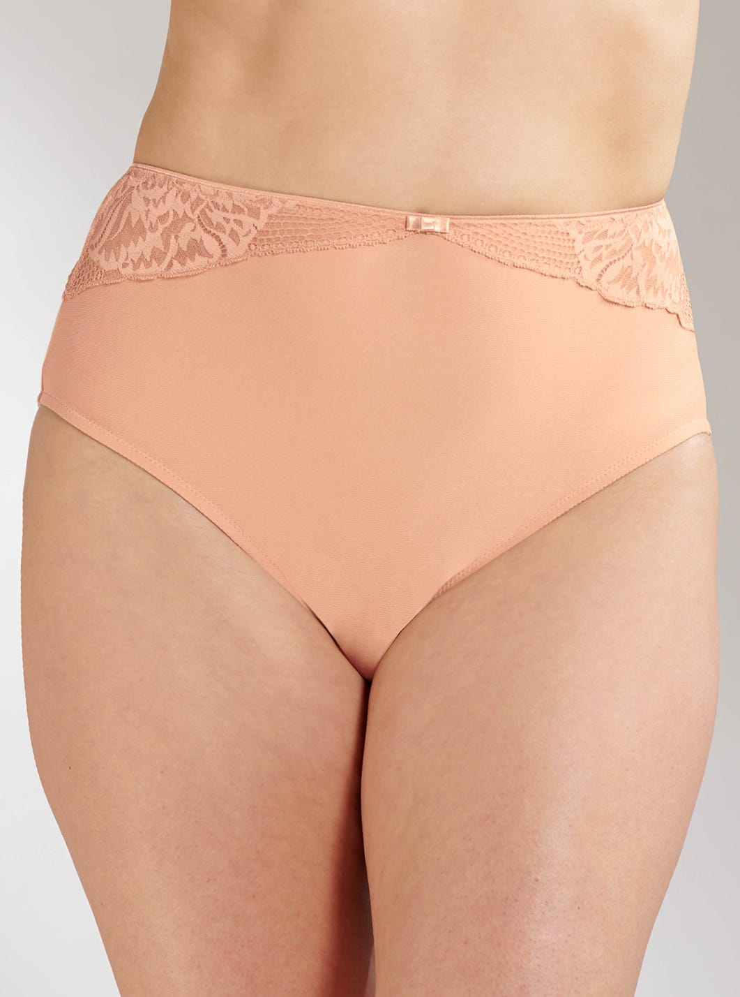 Cotton And Lace Full Briefs by Triumph