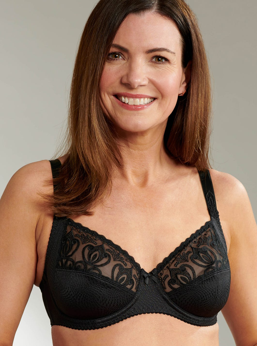 Luxurious Lace Support Bra by Felina