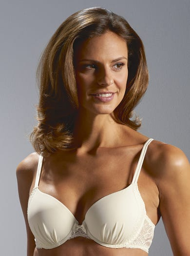 9584 - Ivory - Ruched Moulded Bra by Simone Pérèle