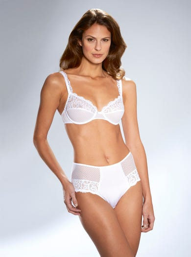 9587 - White - Soft Stretch Lace Briefs by Maison Lejaby