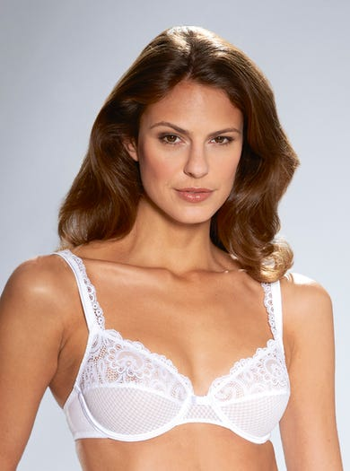 9588 - White - Soft Lace Bra by Maison Lejaby