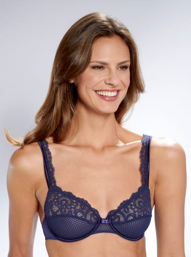 9588 - Navy - Soft Lace Bra by Maison Lejaby