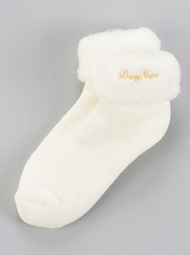 9600 - Cream/Ecru - Snug Warm Bedsocks